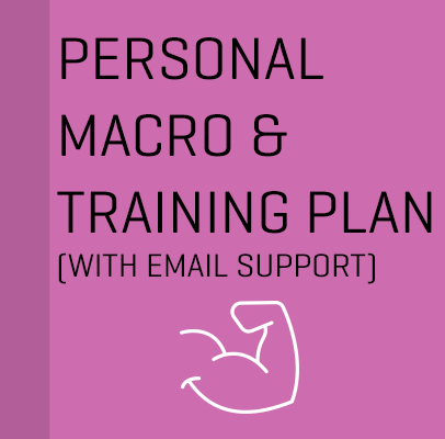 Personal Macro and Training Plan with Email Support